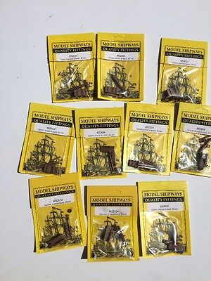 """MODEL Ship Fittings ACCESSORIES CANNON BRONZE WOOD 30mm (1-1/8"""") LOT OF 10 PACKS"""