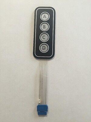 3pk Legendable Tactile Membrane Keypads 4 X 1 Rs Components