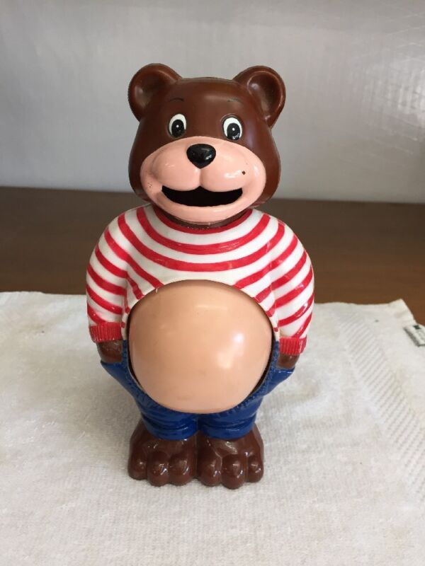Vintage Pregnant Bear Bank