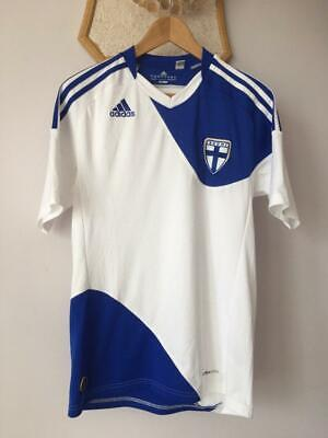 FINLAND SUOMI 2010 2012 FIFA WORLD CUP HOME FOOTBALL SHIRT JERSEY ADIDAS MAGLIA image