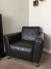 Brown leather chair -excellent condition