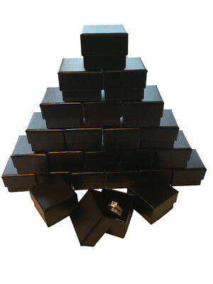 Wholesale Black Ring Gift Box with Foam and Velvet Insert 1.5 x 1.5 x 1.25 Inch](Gift Boxes Wholesale)