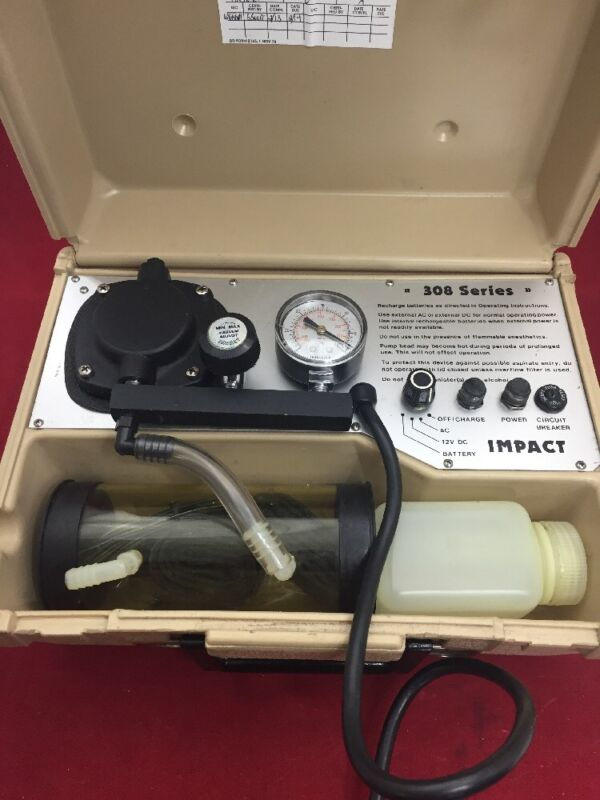 Impact 308m Portable Suction Apparatus Pump Oropharyngeal Fair Condition