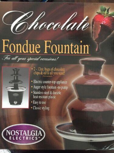 Nostalgia Electrics Chocolate Fondue Fountain - BRAND NEW!!