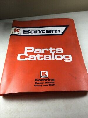 Bantam Koehring Model C-366 Excavator Parts Manual
