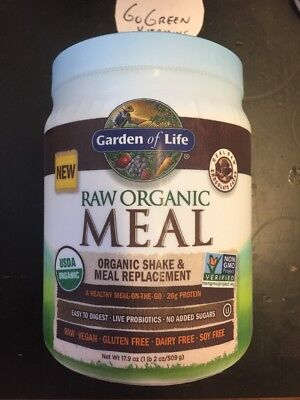 Garden Of Life Raw Meal Replacement  Plant Based Protein Powder Chocolate 17 9Oz