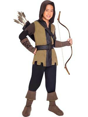 Child Boys Deluxe Prince Of Thieves Fancy Dress Costume Robin Hood Book Day Kids