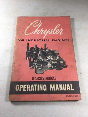 Chrysler V-8 H-series Models Industrial Engines Operating Manual