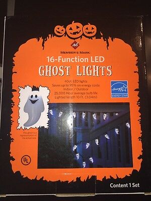 Sam's Club Halloween LED Lights - GHOST 16 Electronic Function With Memory (Club Halloween)