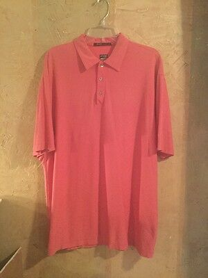 Nike FITORY Tiger Woods Collection- Pink Golf Polo Short Sleeve- Men's X-large