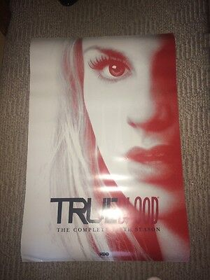 """True Blood HBO 24"""" X 36"""" Double Sided Poster Season 5 Anna Paquin Stake 5"""