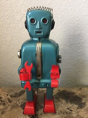 TN Zoomer the Robot - 1950's Original Nomura Japan Tin Litho Battery Space Toy