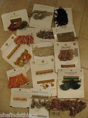 Tassel Trim Fringe Sample Lot Craft Doll Hair Schumacher Duralee Lee Jofa 20 pcs for sale  Shipping to India