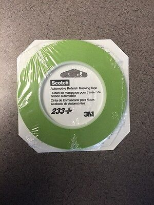 3M 26343 1 8 Scotch Automotive Performance Masking Tape 233  Green  1 Roll