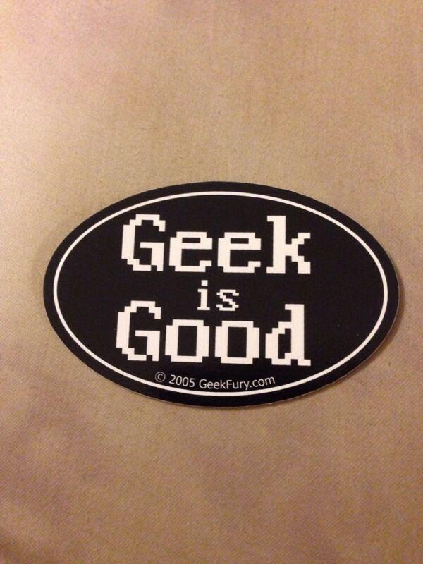 Geek Is Good Bumper Sticker