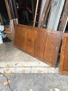 Cm Four Pieces Antique Oak Wainscot Paneling 71.25