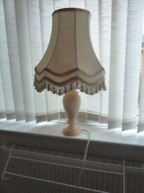 Alabaster marble lamp and shade, large