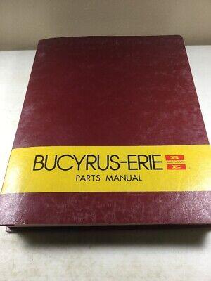 Bucyrus Erie 38b Crane Parts Catalog Manual Original