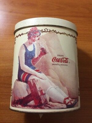 Coca-Cola Tin...Girl On Beach In Bathing Suit...RARE, Collectible