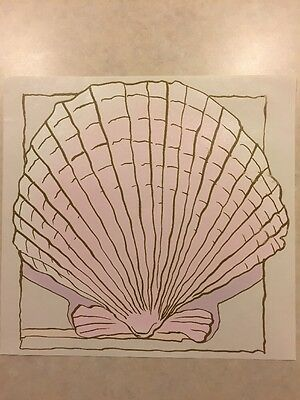 Vintage T-shirt Heat Transfer Pink Scallop Shell