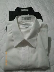 2 new youth dress shirts size 16,one black one white $15 for two Sarnia Sarnia Area image 1
