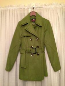 Miss Sixty Double Breasted Green Peacoat - Size M