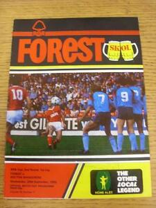 25-09-1985-Nottingham-Forest-v-Bolton-Wanderers-Football-League-Cup-Item-in