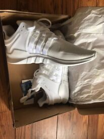 Adidas EQT support triple white , size 9