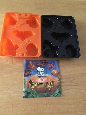 NEW - 2 Halloween Jello Jiggler Molds ~ Bat, Pumpkin, Cat, Witch, Ghost, Recipes - Jello Halloween Molds Recipe