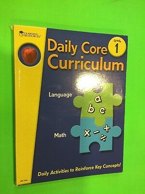 Daily Core Curriculum Language And Math Learning Resources Grade 1 Homeschool