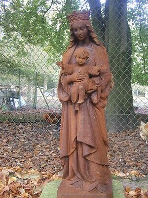 Madonna mit Kind, Marien-Skulptur, Devotionalien Maria Grabschmuck