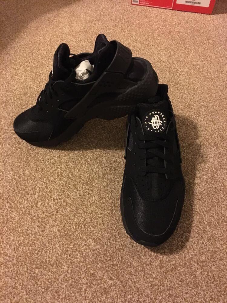 e9782d205fbd ... discount code for brand new nike huarache trainers in black uk size 9  14755 a532f