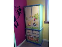 Heather Spencer wardrobe and 2 book cases - Jungle theme