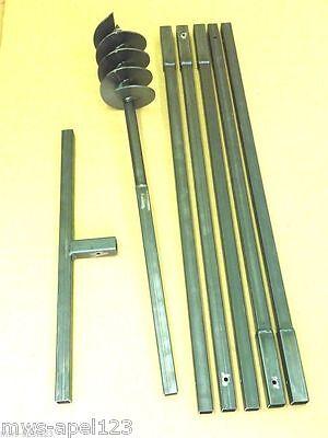 Brunnenbohrgerät Erdbohrer Brunnenbau Brunnenbohrer 150 mm 6 m Handerdbohrer