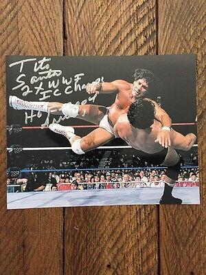 Tito Santana Autographed 8X10 Photo  Wwe Hof 2004  Ariba