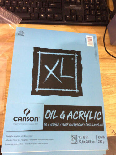 Canson XL Series Oil And Acrylic Paper Pad, Bleed Proof Canvas Like Texture 4  - $11.18