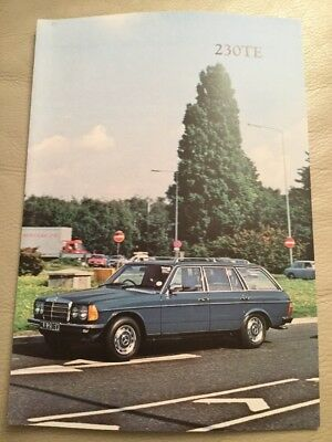 Mercedes 230 TE Car Brochure - September 1980 - excellent condition