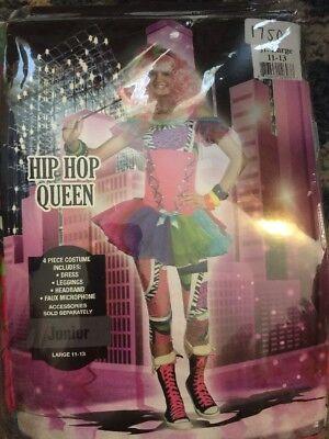 NEW HALLOWEEN Costume 90s Hip Hop Queen Junior 1990's Women Girl Large 11-13 - 90s Hip Hop Costume