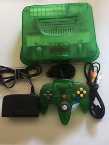 *****CONSOLE NINTENDO 64 EDITION JUNGLE GREEN VERT A VENDRE / NINTENDO 64 N64 JUNGLE GREEN EDITION SYSTEM FOR SALE*****