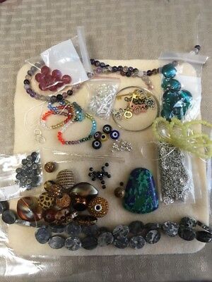 Beaded Jewelry Making Lot-Handpicked Set Grab Bag-Makes Over 10 Pcs Of Jewelry - Bead Sets