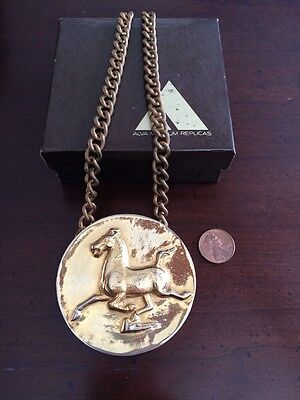Vintage Flying Horse of Kansu Gold Medallion Pendant Necklace - Alva Museum  (Horse Fly Costume)
