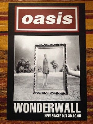 Oasis - Wonderwall - Original Uk Promo Poster 1995