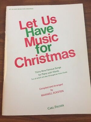 Vintage Let Us Have Music For Christmas Piano Music Song Book, Carl Fischer ()