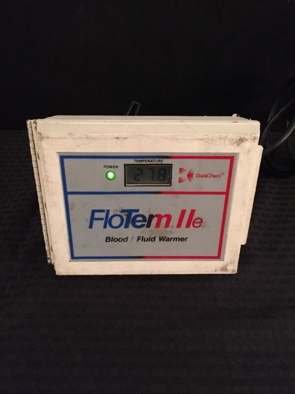 DATACHEM FloTem IIe Blood/Fluid Warmer Type 3 See Description For Condition