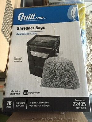 Shredder bags 15.8 gal, 16 Count