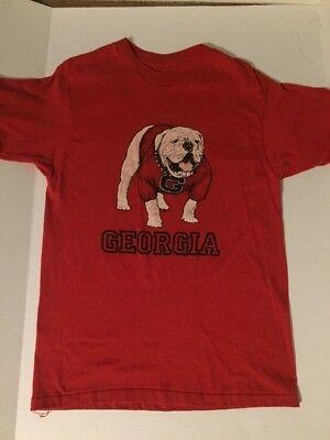 Vtg 70s University of Georgia Dawgs T-Shirt Graphic Tee Bulldogs Thin Soft -