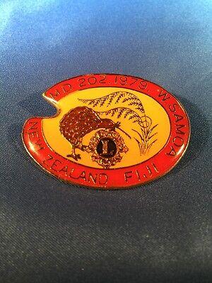 VTG 1979 Lions Club International MB 202 Annual Pin Fiji New Zealand W. Samoa