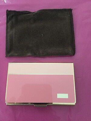 Calibri Gold Plated Businesscredit Card Holder Made In Japan Pink On Pink