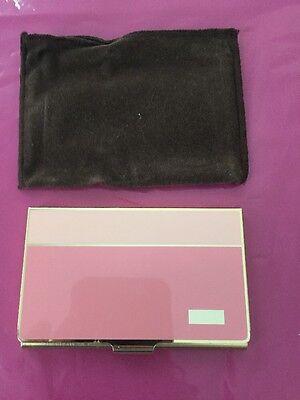 Calibri Gold Plated Businesscredit Card Holder Made In Japan Pink On Pink