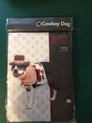 Party City Halloween Cowboy Dog Costume Pet 3 Piece Small (New with Tags)